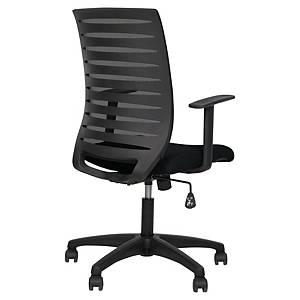 Milo bureaustoel met synchroon mechanisme, verstelbare armleuningen, zwart