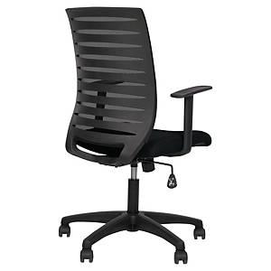 Cadeira Nowy Styl Xeon com mecanismo sincronizado e braços - Preto