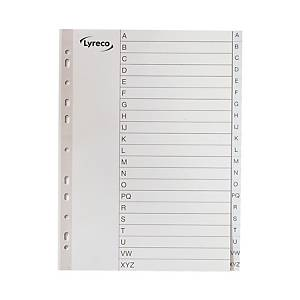 Lyreco A4 Printed Dividers Index A-Z