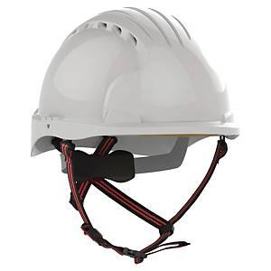 Schutzhelm JSP EVO5 AKS270, aus HDPE, Schiebeverschluss, weiß