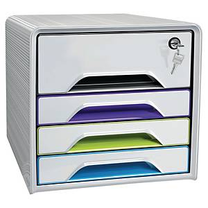 Cep Schubladenbox Smoove Artic Secure mit Schloss, weiß-farbig