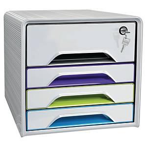 Zásuvkový modul Cep Smoove Artic Secure s uzamykaním, bielo-farebný