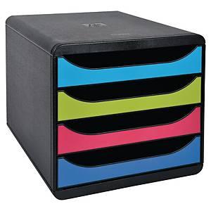 Módulo de organização Exacompta Big Box - 4 gavetas - sortido