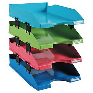 EXACOMPTA 1928 Letter Tray A4+ Asst - Pack Of 4