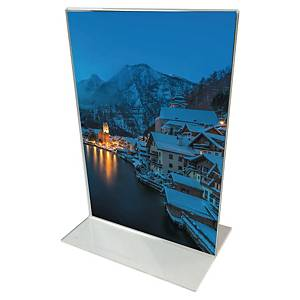 Display stand, T-shape, format A5, transparent