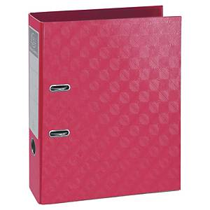 Exacompta 1928 Prem Touch Lever A4 Lever Arch File, 70mm Spine, Raspberry
