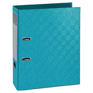 Exacompta 1928 Prem Touch Lever A4 Lever Arch File, 70mm Spine, Turquoise