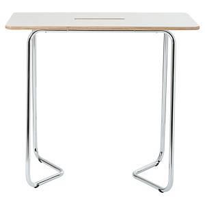 Table haute Bi-Office Douro dry erase, écriture au marqueur tableau blanc, blanc