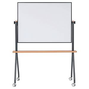 Tableau blanc mobile Bi-Office Curve, basculant, 120 x 90 cm