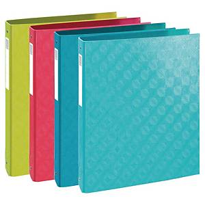 Exacompta 1928 A4 Ring Binder, 4 Rings, 40mm Spine, Assorted Colours - Pack 4