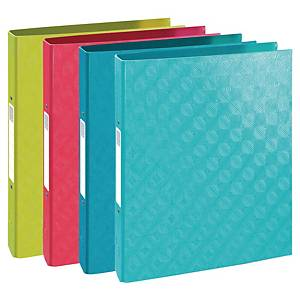 Exacompta 1928 A4 Ring Binder, 2 Rings, 40mm Spine, Assorted Colours - Pack 4