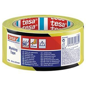Bande de marquage Tesa, 33m, emballage à 6 pc,  noir/jaune