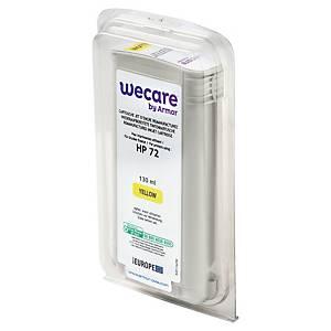 Wecare remanufactured HP 72 (C9373A) inkt cartridge, geel