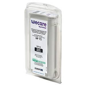 Wecare kompatible Tintenpatrone mit HP 72 (C9370A), foto schwarz