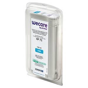 Wecare kompatible Tintenpatrone mit HP 72 (C9371A), cyan