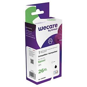 Tintenpatrone wecare  komp. mit Epson 26XL/C13T26214012, Inhalt: 21ml, swz