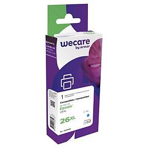 Wecare remanufactured Epson 26XL inkt cartridge, cyaan
