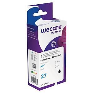 Wecare kompatible Tintenpatrone mit HP 27 (C8727AE), schwarz