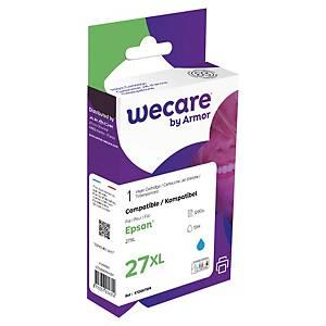 Wecare remanufactured Epson 27XL inkt cartridge, cyaan