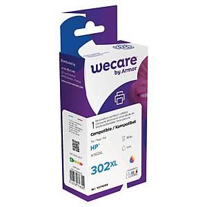 Cartucho tinta remanufacturado We Care compatible para HP 302 XL-F6U67A-3colores