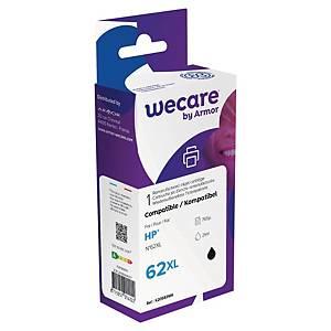 Wecare kompatible Tintenpatrone mit HP 62XL (C2P05AA), schwarz