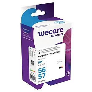 Wecare remanufactured HP 56 en 57 (SA342A) inkt cartridges, zwart en 3 kleuren