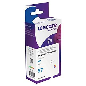 Wecare remanufactured HP 57(C6657A) inkt cartridges, cyaan, magenta, geel