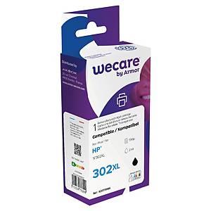 WECARE kompatibilná atramentová kazeta HP 302XL (F6U68AE) čierna