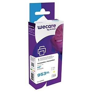 Wecare remanufactured HP 953XL (F6U18AE) inkt cartridge, geel