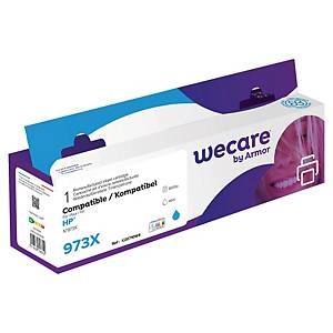 Cartouche d encre We Care compatible équivalent HP 973XL - F6T81AE - cyan