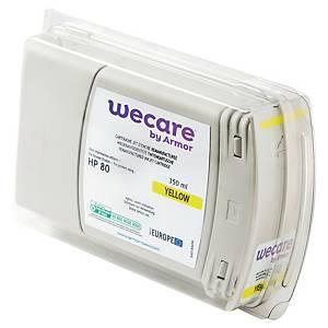 Tintenpatrone wecare  komp. mit HP 80/C4848A, Inhalt: 350ml, gelb