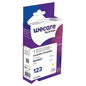 Cartucho tinta remanufacturado We Care compatible para Brother LC123 -amarillo
