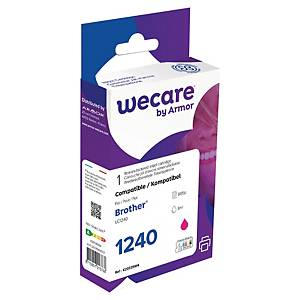 Wecare remanufactured Brother LC-1240 inkt cartridge, magenta