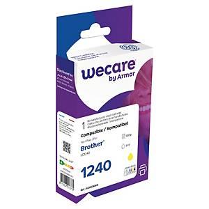 Bläckpatron Wecare kompatibel med Brother LC1240Y, 885 sidor, gul