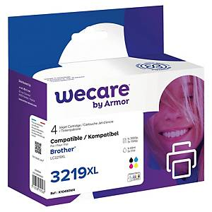 Wecare remanufactured Brother LC-3219XL inkt cartridges, zwart en 3 kleuren