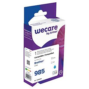 Wecare remanufactured Brother LC-985 inkt cartridge, cyaan