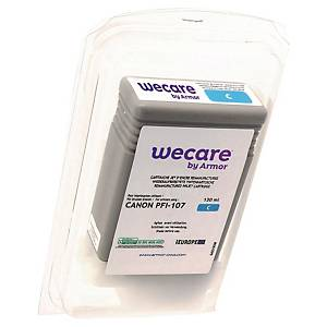 Wecare remanufactured Canon 107 inkt cartridge, cyaan
