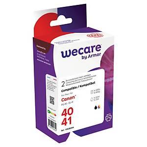 Wecare remanufactured Canon PG40/CL41 inkt cartridges, zwart en 3 kleuren