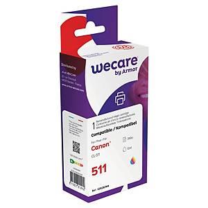 Cartucho tinta remanufacturado We Care compatible para Canon CL511 - 3 colores