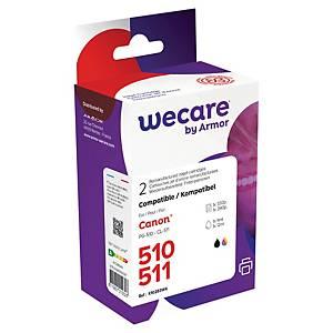 WECARE tintasugaras nyomtató patron CANON PG-510/CL-511 (2970B010) multipack