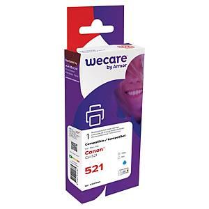 WECARE kompatibilní inkoustová kazeta CANON CLI-521C (2934B001) cyan