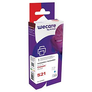 Wecare remanufactured Canon CLI-521 inkt cartridge, cyaan
