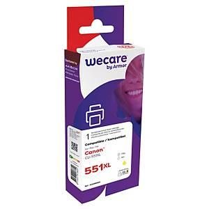 WECARE kompatible Tintenpatrone CANON CLI-551YXL (6446B001) gelb