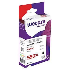 Blekkpatron Wecare Canon 6431B001-kompatibel, 500 sider, sort