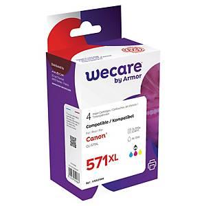 WECARE kompatible Tintenpatrone CANON CLI-571 (0386C004) 4-farbig BCMY