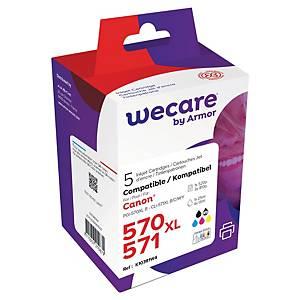 WeCare Compatible Canon PGI-570XL Black & CLI-571XL Tri-Colour Ink Cartridge