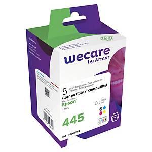 Wecare remanufactured Epson T044 inkt cartridges, zwart en 3 kleuren