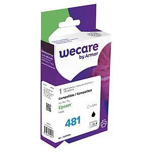 Wecare remanufactured Epson T0481 inkt cartridge, zwart