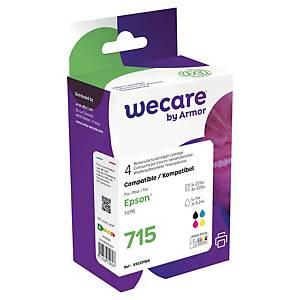 Wecare remanufactured Epson T0711/14 inkt cartridges, zwart en 3 kleuren