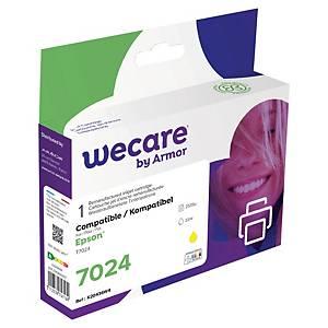 WeCare kompatibilis tintapatron Epson 7024 C13T70244010, sárga